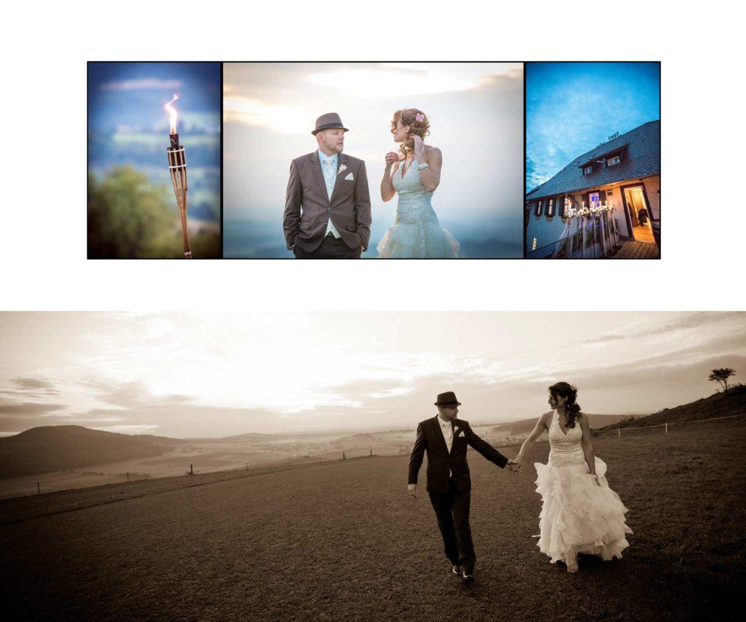Hochzeitsbuch Braut und Bräutigam Händchen halten